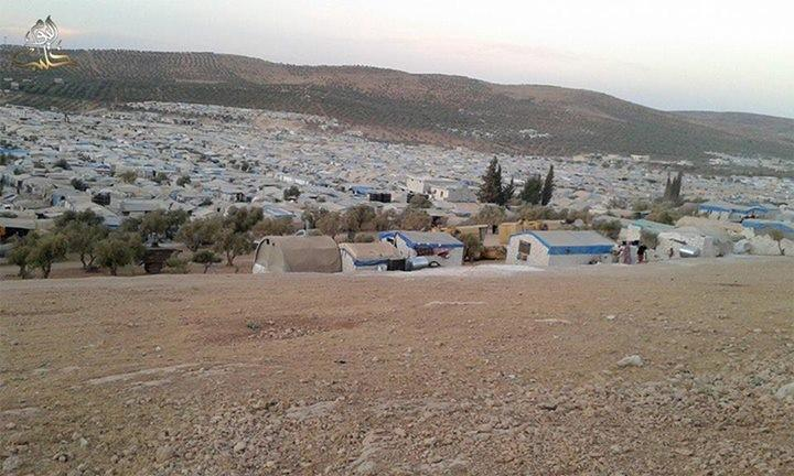 "View of Karameh internally displaced person camp inside Syria near the Turkish border "" Source: Halab Today (local Aleppo news agency)"