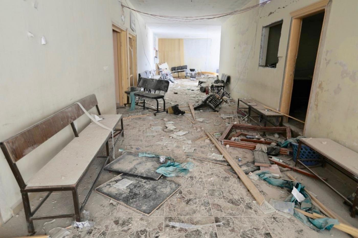 Russian airstrikes on Kafr Nabl's Surgical Hospital in Syria, early May 2019, Agence France-Presse